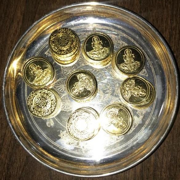 Lakshmi Kubera - Coins SVCC Temple Sacramento