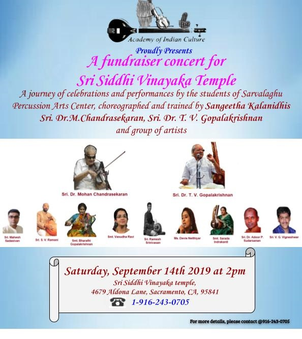 Fund Raiser Sep 14 2019 @SVCC Temple Sacramento